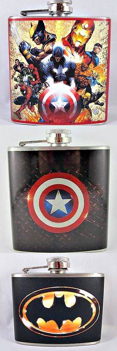 flasks - superhero ... These are for My Lunchbox!!