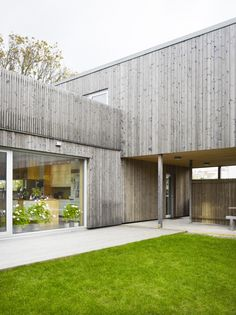 your daily dose of inspiration — aros: Wood House / UNIT Arkitektur AB Modern Wood House, Wooden House, House In The Woods, My House, Timber Cladding, House Extensions, My Dream Home, Interior Architecture, House Design