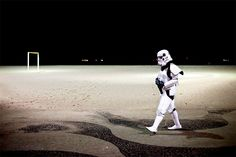 A man dressed as a 'Star Wars' storm trooper walks on Copacabana Beach during carnival celebrations in Rio de Janeiro, Brazil. (Victor R. Caivano/Associated Press)