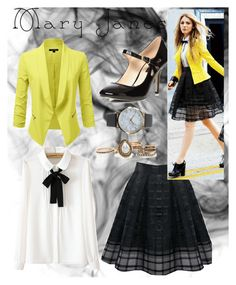 """""""#maryjanes"""" by sarahmanuela ❤ liked on Polyvore featuring Dorothy Perkins, WithChic and NLY Accessories"""