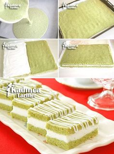 Spinach Milk Slice Recipe, How To, Cookie Recipes Mini Cheesecake Cupcakes, Mini Cheesecakes, Turkish Recipes, Cake Cookies, Pasta Recipes, Vanilla Cake, Cookie Recipes, Cake Decorating, Food And Drink