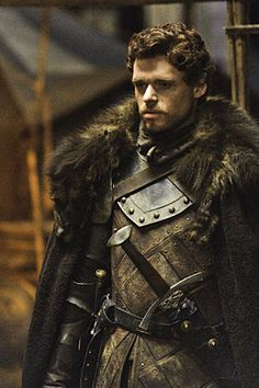 Richard Madden plays Robb Stark, whose war with the Lannisters hardens him during Season 2
