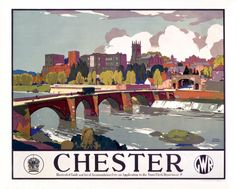 Great Western Railway Travel Poster Chester