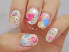 Little Twin Star Sanrio Water Decal Nail Art