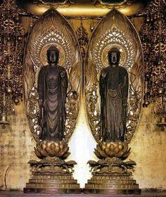 この世に浄土を見よ-釈迦&阿弥陀如来立像/ニ尊院