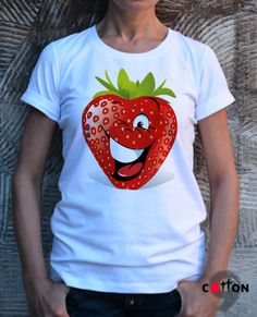 NEW Designe Strawberrie T-shirt / Organic T-shirt /  by Cotton9
