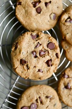 The most delicious and easy Vegan Gluten-free Peanut Butter Chocolate Chip Cookies that are made in 1 bowl, are oil-free, dairy-free and ready in about 20 minutes! It's been quite some time since I shared a cookie recipe. I shared a pic of me making these amazing Vegan Peanut Butter Chocolate Chip Cookies on my Instagram stories and finally sharing