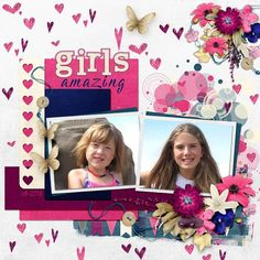 Loves Greetings - Page in a Pocket is mini kit and a template in one package! It was perfect to quickly and easily put together this layout of my granddaughters.