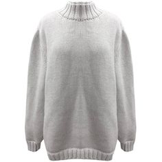 Yakshi Malhotra - White Chunky Knit Jumper (€200) ❤ liked on Polyvore featuring tops, sweaters, white sweaters, chunky sweaters, chunky knit jumper, white jumper and oversized jumper