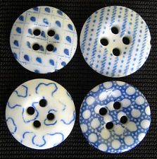 BLUE CHINA CALICO BUTTONS! I would have a hard time parting with these!