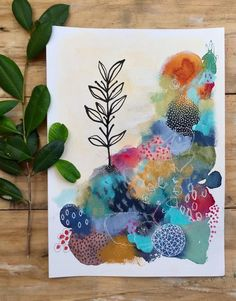 Mountain Rise Laura Horn Art - New Sites Abstract Watercolor, Watercolor And Ink, Watercolor Paintings, Kids Abstract Art, Art Paintings, Watercolor Trees, Indian Paintings, Watercolor Portraits, Watercolor Landscape