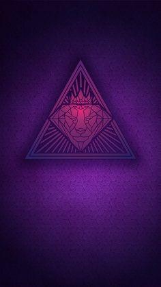 Brokerhood Pyramid Purple Wallpaper For Iphone