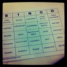 Buzzword Bingo was created in the early 1990's and popularised in a Dilbert comic strip. The premise of the game is to liven up a meeting or workday by ticking off buzzwords on a card as they are uttered. It is usually played to best effect when an outside speaker or higher management person is holding a talk or meeting, and who is well-known for using popular buzzwords or phrases, perhaps to disguise a lack of any real knowledge of the subject matter.