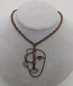 Vintage Rebajes Kinetic Faces copper by CINDYSCOLLECTIBLES on Etsy, $300.00