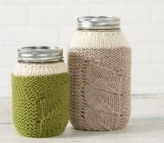 Patons® Classic Wool™ Spring Sprouts Mason Jar Covers (Knit)