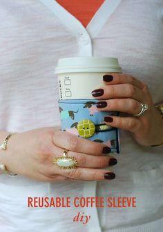 DIY Coffee Sleeves // Twin Stripe
