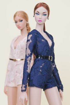 We have a mini collection for the summer of 2016: delicately-made playsuit in lace! Titled [Ode to Summer}, they come in two colour: pale champagne pink and midnight blue. These playsuits are the best things that a doll could have during summer.