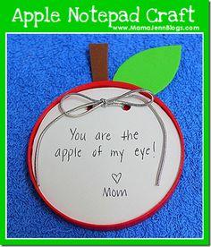 Apple Notepad Craft