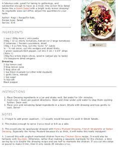 GREEK LEMON ORZO SALAD (RISONI) http://www.recipetineats.com/greek-lemon-orzo-salad-risoni/