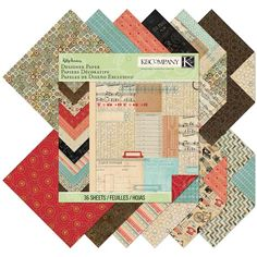 Create beautiful scrapbook pages, cards, gift wrap and more with this Kelly Panacci Eclectic 12 x 12 Designer Paper Pad from K&Company. Pretty patterns and Arts And Crafts, Paper Crafts, Eclectic Design, Yarn Shop, Pretty Patterns, Colorful Drawings, Paper Design, Scrapbook Paper, Scrapbooking