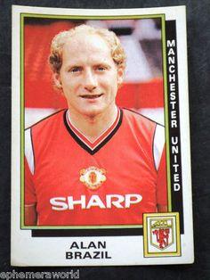PANINI FOOTBALL 1986 STICKER # 193 Alan Brazil Man Utd