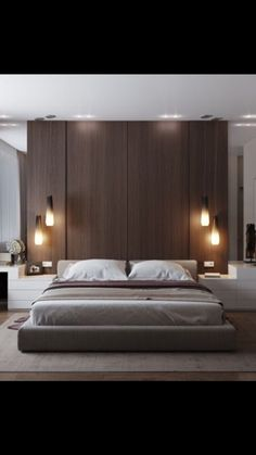 Modern Style Bedroom Design Ideas and Pictures. Is the perfect modern bedroom at the top of your wish list? Our modern bedroom design ideas and inspiration has been carefully compiled to ensure that you. Modern Master Bedroom, Modern Bedroom Decor, Stylish Bedroom, Minimalist Bedroom, Contemporary Bedroom, Home Bedroom, Bedroom Wall, Bedroom Ideas, Modern Contemporary