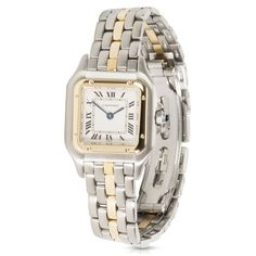 Refurbished Pre-owned Ladies 1990s Cartier Panthere 18K Yellow /Steel W25027B5 Quartz Watch