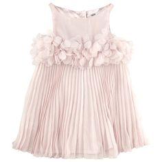 REPETTO  Robe voilée ceinture fantaisie coloris rose pâle
