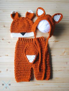 Fox Baby Pants, Fox Hat by MiniMaeCrochet on Etsy https://www.etsy.com/listing/273110158/baby-fox-costume-baby-shower-gift-baby