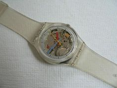 Swatch...I had one exactly like this and wore it pretty much every single day, until the plastic band broke.