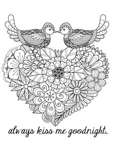 heart flower valentines abstract doodle zentangle paisley coloring pages