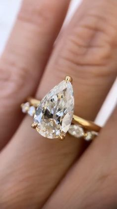 Celebrity Engagement Rings, Pear Shaped Engagement Rings, Designer Engagement Rings, Engagement Photos, Diamond Engagement Rings, Diamond Anniversary Rings, Diamond Rings, Rose Gold Wedding Jewelry, Wedding Bands