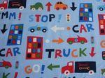 Kinderstoffen vroemm auto truck. | Stoffenhuis Anja, Webshop