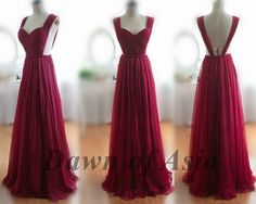Prom dress backless prom dress / long prom dress / by DawnofAsia, $98.00