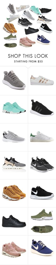 """""""shoes!!!!"""" by milliewatkins on Polyvore featuring adidas, adidas Originals, NIKE, nike, rosegold and whitesneakers"""