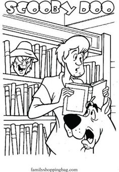 Scooby Shaggy Library Doo Coloring Pages