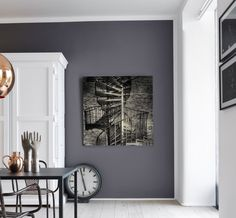 Mørke farger gir gode rom - ifi.no Paint Colors, Gallery Wall, Interior, Pictures, Painting, Home Decor, Content, Lily, Paint Colours