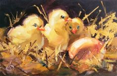 Original artwork from artist Tom Brown on the Daily Painters Gallery Feather Painting, Daily Painters, Baby Chicks, Original Artwork, Toms, Birds, The Originals, Brown, Artist