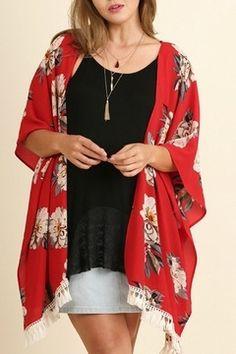 87d831a49 Shop Clothing Jackets, Coats & Blazers Kimonos & Wraps. Floral KimonoKimono  TopSportswearFashion ...