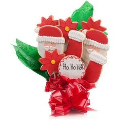 Jolly Santa Cookie Bouquet