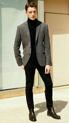 37 Business Casual Men Outfits you Can Wear Everyday During Winter Trajes casuales Mens Fashion Blazer, Suit Fashion, Fashion Outfits, Man Style Fashion, Man Suit Style, Blazer Outfits Men, Trendy Mens Fashion, Fashion Advice, Fashion Photo