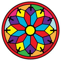 Espacio de imágenes y palabras...: Mandala CXXIII Coloring Book App, Coloring Apps, Adult Coloring, Colouring, Happy Colors, Mandala Art, My Arts, Logos, Artwork