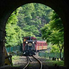 Sagano Scenic Railway, Kyoto, Japan