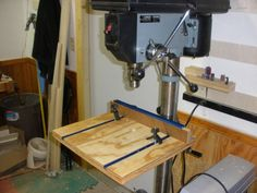 Quick & Dirty Drill Press Table - by JayT @ LumberJocks.com ~ woodworking community