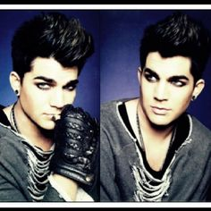 Adam lambert....LUV, he's beautiful AND he's hot. Yes...i said he's beautiful <3 :)