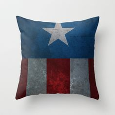 Captain America Throw Pillow by Fries Frame - $20.00