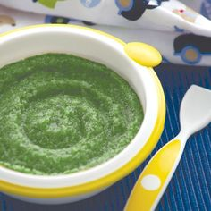Popeye Spinach Puree---I need to remember this when I get to the baby food making stage.