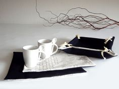 Breakfast set  Bread basket and table mats  gift  by lalunadianna, €22.00