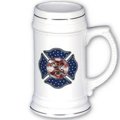 Firefighter Patriotic Beer Steins, Coffee and Travel Mugs