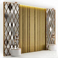 models: beds – - Home Decor Ceiling Design, Wall Design, House Design, Bedroom Bed Design, Bedroom Wall, Master Bedroom, Partition Design, Headboard Designs, 3d Models